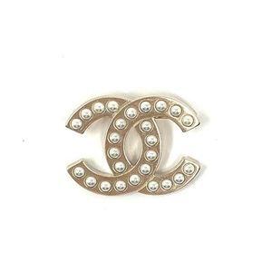 Chanel Pearl CC Brooch